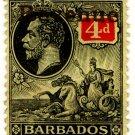 (I.B) Barbados Revenue : Duty 4d (gold OP)