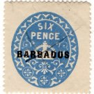 (I.B) Barbados Revenue : Duty 6d