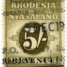 (I.B) Rhodesia & Nyasaland Revenue : Duty 5/-