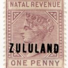 (I.B) Zululand Revenue : Duty Stamp 1d