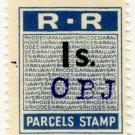 (I.B) Rhodesia Railways : Parcels Stamp 1/-