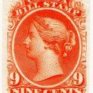 (I.B) Canada Revenue : Bill Stamp 9c (colour trial)