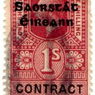 (I.B) George V Revenue : Contract Note (Ireland) 1/- OP