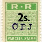 (I.B) Rhodesia Railways : Parcels Stamp 2/-
