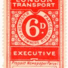 (I.B) London Transport Executive : Railway Newspapers 6d