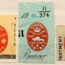 (I.B) Canada Revenue : Impressed Duty/War Tax Collection