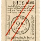 (I.B) Midland Great Western Railway (Ireland) : Parcel 2/-