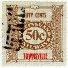 (I.B) Australia - Queensland Railways : Parcel 50c (Townsville)