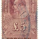 (I.B) Edward VII Revenue : Foreign Bill £5