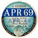 (I.B) GB Revenue : Car Tax Disc (New Hudson Motorcycle 1969)