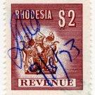 (I.B) Rhodesia Revenue : Duty Stamp $2