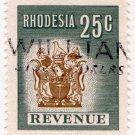 (I.B) Rhodesia Revenue : Duty Stamp 25c