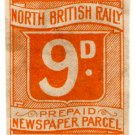 (I.B) North British Railway : Newspaper Parcel 9d