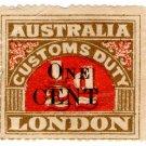 (I.B) Australia Revenue : Customs Duty 1c on ½d OP