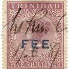 (I.B) Trinidad & Tobago Revenue : Fee Stamp 5/-