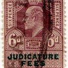 (I.B) Edward VII Revenue : Judicature Fees 6d