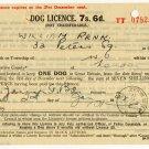 (I.B) George VI Revenue : Dog Licence 7/6d (London 1942)