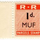 (I.B) Rhodesia Railways : Parcels Stamp 1d