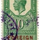 (I.B) George V Revenue : Foreign Bill 10/-