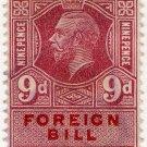(I.B) George V Revenue : Foreign Bill 9d