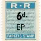 (I.B) Rhodesia Railways : Parcels Stamp 6d