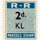 (I.B) Rhodesia Railways : Parcels Stamp 2d