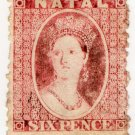 (I.B) Natal Revenue : Duty Stamp 6d (inv watermark)