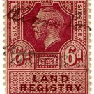 (I.B) George V Revenue : Land Registry 6d