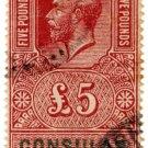 (I.B) George V Revenue : Consular Service £5