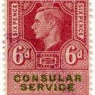 (I.B) George VI Revenue : Consular Service 6d