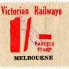 (I.B) Australia - Victoria Railways : Parcels 1/-