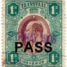 (I.B) Transvaal Revenue : Pass 1/-