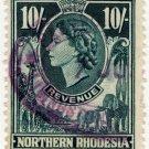 (I.B) Northern Rhodesia Revenue : Duty Stamp 10/-