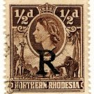 (I.B) Northern Rhodesia Revenue : Duty Stamp ½d