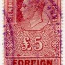 (I.B) George VI Revenue : Foreign Bill £5