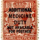 (I.B) George V Revenue : Additional Medicine Duty 1½d