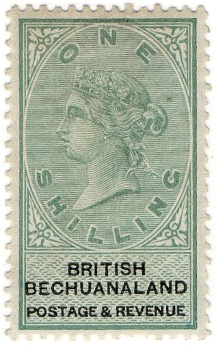 (I.B) British Bechuanaland Revenue : Duty 1/-