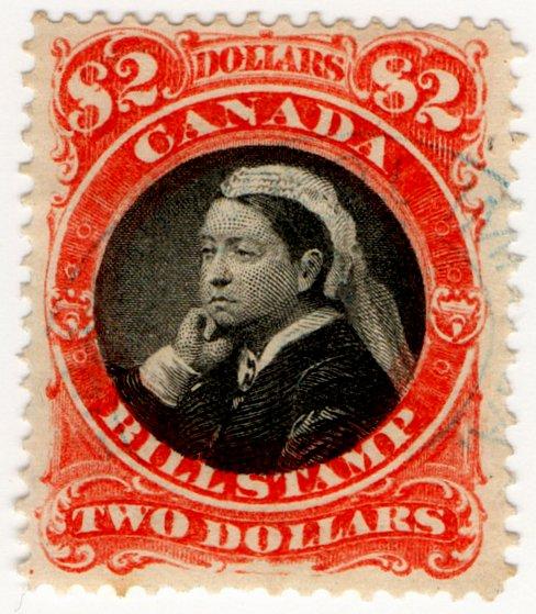 (I.B) Canada Revenue : Bill Stamp $2