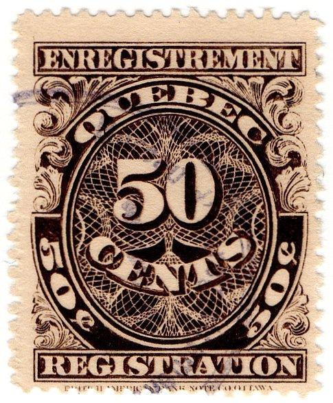 (I.B) Canada Revenue : Quebec Registration 50c