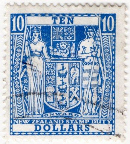 (I.B) New Zealand Revenue : Stamp Duty $10