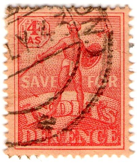 (I.B) India Revenue : War Savings Stamp 4a