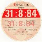 (I.B) GB Revenue : Car Tax Disc (Scania HGV 1984)