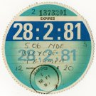 (I.B) GB Revenue : Car Tax Disc (Triumph Motorcycle 1981)