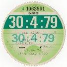 (I.B) GB Revenue : Car Tax Disc (Chrysler 1979)