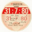 (I.B) GB Revenue : Car Tax Disc (Ford 1980)