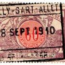 (I.B) Belgium Railways : Parcels 60c (Gilly-Sart-Allet 1910)