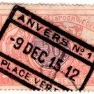 (I.B) Belgium Railways : Parcels 50c (Anvers 1912)