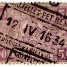 (I.B) Belgium Railways : Parcels 5 Fr (Bruxelles 1934)