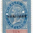 (I.B) QV Revenue : Admiralty Court Ireland  10/- (1881)