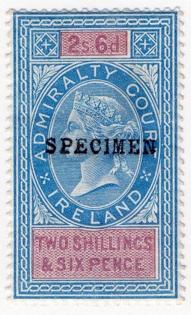(I.B) QV Revenue : Admiralty Court Ireland 2/6d (1881)